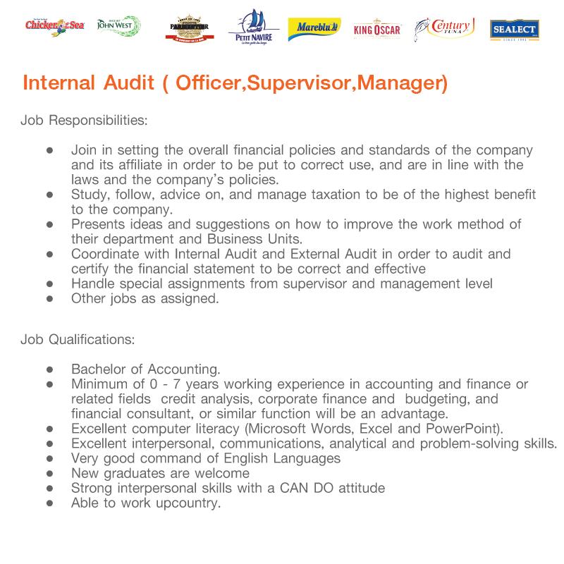 TUF Internal Audit jobs details