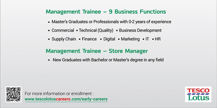 Tesco Lotus store manager jobs