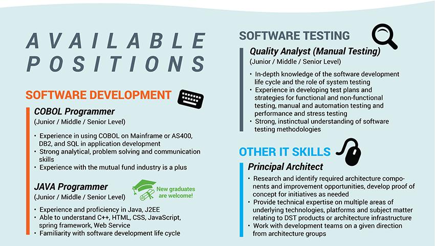 DST Software Development jobs