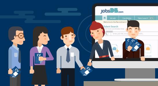 ระบบ jobsDB Recruitment Centre