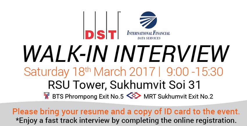 DST Walk-in interview