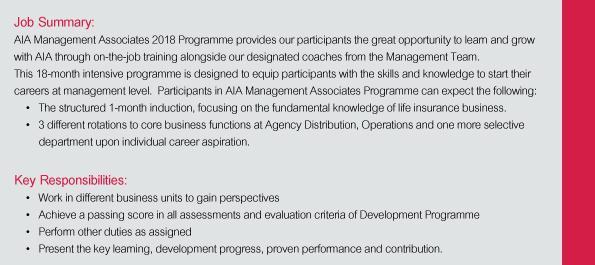 AIA Corporate Leaders Development Programme