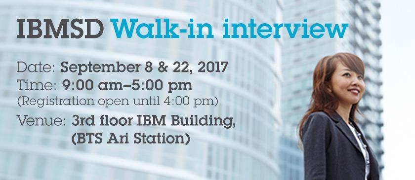 IBMSD Walk-in interview