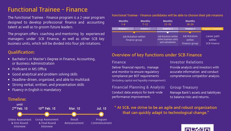 SCB Finance Trainee