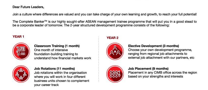 CIMB Thai ASEAN management trainee programe