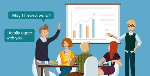 ฝึกพูดภาษาอังกฤษในที่ประชุม