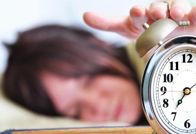 แก้การนอนตื่นสาย