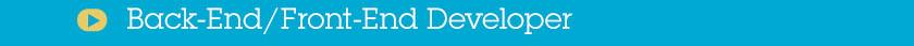Back-End/Front-End Developer
