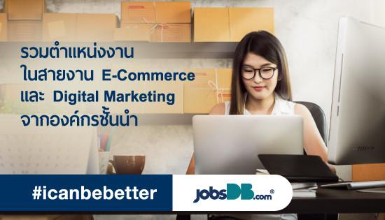 หางานในสายงาน E-Commerce และ Digital Marketing จากองค์กรชั้นนำ