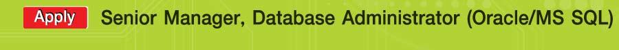 Big C Manager, Senior Manager, Database Administrator